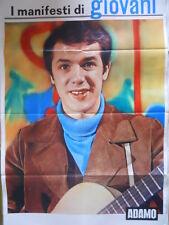 Poster Manifesti di GIOVANI 1967 73x50 cm - CANTANTE ADAMO  [D39-73]