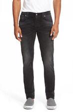 B-Stock New Nudie Men's Slim Fit Stretch Jeans - Grim Tim Black Haze - W31/W32