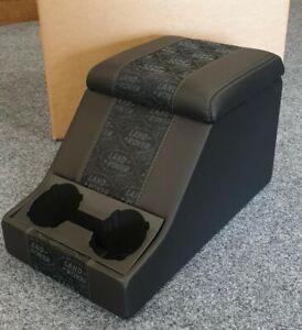Land Rover Defender / Series Premium Cubby box in Black Land Rover Logo - Exmoor