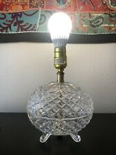 Home And Decor Lamps Glass Vintage Levinton Crystal Oval Lamp Antique Old