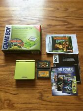Nintendo Game Boy Advance SP Lime Green System Donkey Kong Target Edition box dk