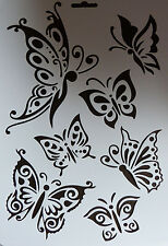 Plastic/PVC/Stencil/Multi/Butterfly/Oriental/Design/Art/SEE DESCRIPTION