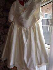 Lace V Neck 3/4 Sleeve Plus Size Wedding Dresses