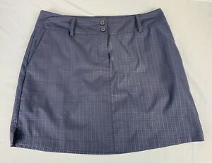 ADIDAS Size 10 CLIMACOOL Blue Print Golf/Tennis Athletic Skort Skirt Shorts EUC