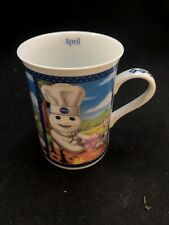 Pillsbury Doughboy Danbury Mint Coffee Cup Of The Month Mug April Displayed