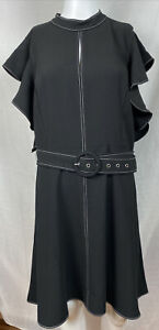 Portmans Black Cocktail Party Dress Size 16 Brand New With Tags RRP $129 F328