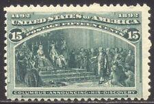 U.S. #238 Mint NH - 1893 15c Columbian ($600)