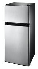 4.3 Cu Ft Mini Fridge Freezer 2 Door Stainless Steal Small Compact Refrigerator