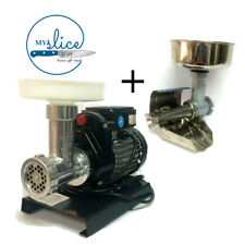 Reber 0.3HP #5 Electric Mincer / #3 Tomato Sauce Machine Combo