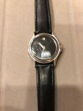 Movado Museum Wrist Watch for Women; Pre-Owned, black face and stainless color