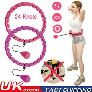 24 Knotes Weighted Hula Hoop Adult Smart Hoola Thin Waist Fitness Weight Loss