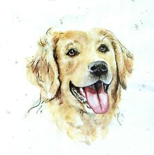 4 Lunch Paper Napkins for Decoupage Party Table Craft Vintage  I am Sweet Dog