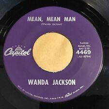Wanda Jackson: Mean, Mean Man / Happy Happy Birthday 45 - Rockabilly