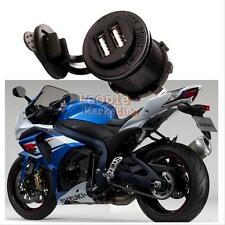 Waterproof Dual USB Car Cigarette Charger Socket Outlet  Panel Mount Motorcycle