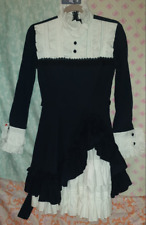 Victorian style Fancy Short Dress (cosplay) Costume Gown (Navy/White)
