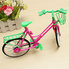 New Barbie Doll Outdoor Accessories Hot 1:6 Toy Plastic Bike Bicycle With Basket