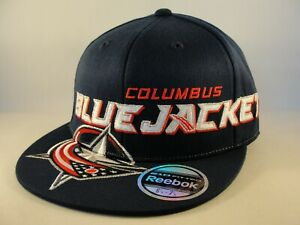 Columbus Blue Jackets NHL Reebok Flex Hat Cap Size S/M Navy