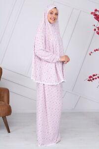 2pc Yusra Muslim Women kidz Prayer Dress w sleeve Scarf Hijab  Cover Body RRP£30
