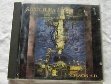 """SEPULTURA-"""" CHAOS A.D."""" CD 1ST PRESS 1993 NO IFPI"""