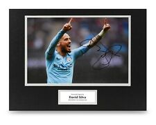 David Silva Signed 16x12 Photo Display Man City Autograph Memorabilia + COA