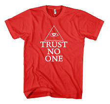 TRUST NO ONE EYE OF PROVIDENCE GEEK Unisex Adult T-Shirt Tee Top