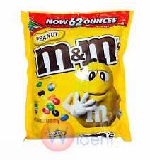 M&M's Peanut Bag Chocolate Candy Bulk M&M Candies 62oz Resealable Zipper