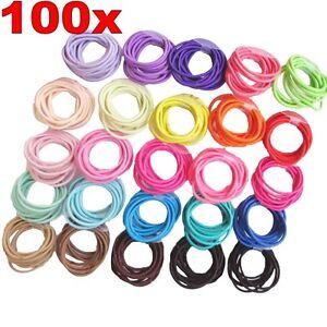 100X Mixed Hair Elastics Elastic Hair Rubber hair jewelry high quality coloured