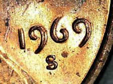 1969-S Double Die Obverse Lincoln Memorial Cent Grading BU RED   n90