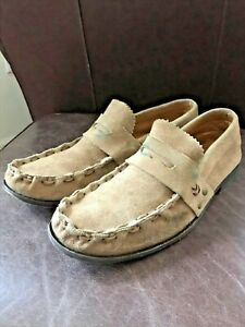 John Varvatos Suede Penny Loafers