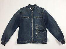 Alcott jacket jeans M blu giacca giubbino vintage uomo retro bomber denim T1426