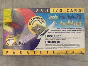 SIIG, Inc. Model IO1818 Parallel Pro ISA-Bus High-IRQ Single Parallel Port