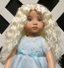 """Doll Wig, Monique Gold """"Ellowyne Rose"""" Size 4/5 in White Blonde"""
