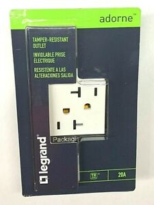 Legrand Adorne White 20A Tamper Resistant Outlet ARTR202W4 Receptacle New In Box