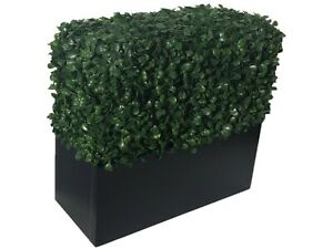 Artificial Boxwood Topiary Planter Faux Tree 12 Inch Modern Home Floral Decor