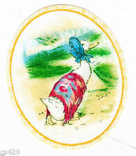 """3"""" Beatrix potter duck oval nursery fabric applique iron on character"""
