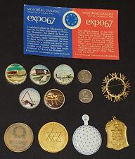 1967 - MONTREAL WORLD FAIR - EXPO 67 - COLLECTIBLE ITEMS LOT (13) - ORIGINAL