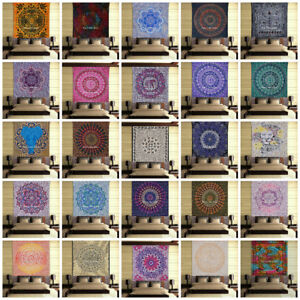 Indian Mandala Bedding Bed Cover Hippie Bohemian Queen Tapestry Wall Hanging