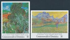[105808] Dominica 1991 Art paintings Van Gogh 2 Souv. Sheets MNH