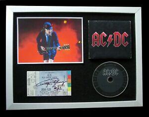 AC/DC+SIGNED+FRAMED+ROCK+BLACK ICE+BACK+HIGHWAY=100% GENUINE+EXPRESS GLOBAL SHIP