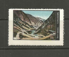 Switzerland poster stamp/label (#33 Gotthard Pass)