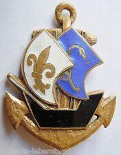 Insigne Groupement Antilles Guyane Troupes Coloniales émail Drago ORIGINAL