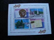 SUISSE - timbre - yvert et tellier bloc n° 26 obl (Z3) stamp switzerland (Z)