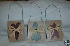 Hand Painted Wooden Christmas Tree Ornaments (3pcs)