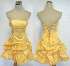 NWT HAILEY LOGAN $129 Yellow Party Cocktail Dress 9