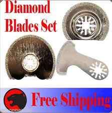 3 Diamond Cut Oscillating MultiTool Blade Disc For Fein Multimaster Dremel Bosch