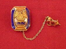 N. S. N.  LABEL PIN INLAID ORIGINAL VINTAGE CHAIN 1937