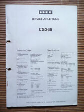 Service Manual für Uher CG 365 ,ORIGINAL
