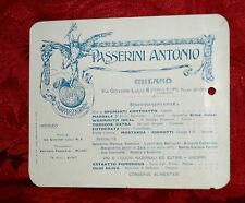 Passerini Antonio Milano Vini e Liquori 1920