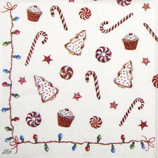 4x Paper Napkins for Party, Decoupage- Christmas Sweets