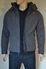 New Abercrombie & Fitch All-Season Weather Warrior Veste Manteau Gris M RRP £ 160